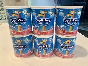 PediaSure Grow & Gain Non-GMO Strawberry Shake Mix 14.1oz UB 03/01/2021 6-Pack