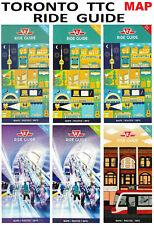 TTC 🚌🚇🚋 Ride Guide Map 2017-2020 Toronto Downtown Subway Bus Streetcar Tram
