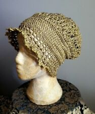 Handmade Cloche Hat Crochet AntiqueArt DecoStyle CapRetro Vintage