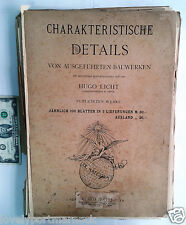 Antique Charakteristische Detail folio 100 plates BERLIN HUGO LICHT Architecture