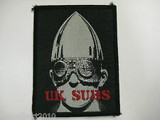 U. K. SUBS UK Subs WARHEAD - Vintage 1980's Sew On Cloth Patch NEW OLD STOCK