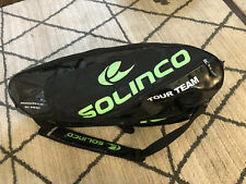 Solinco Tour Team Tennis Bag ,green Black , Great Fits Up To 12 Rackets!