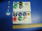LOT OF 15 CAMPAIGN BUTTONS POLITICAL