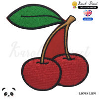 Cherry Fruit Embroidered Iron On Sew On Patch Badge For Clothes etc