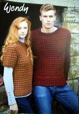 Unisex Sweaters Serenity Knitting Pattern Wendy 5858 Super Chunky