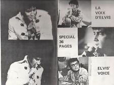 """Elvis Presley Sept. 1972 Fanzine """"La Voix D'Elvis""""- Elvis' Voice"""