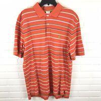 Brooks Brothers Men's Short Sleeve Orange Striped Polo Shirt Size XL