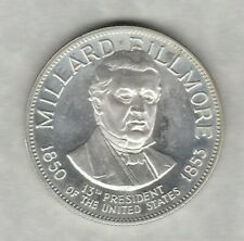 More details for franklin mint millard fillmore 13th president usa one ounce silver medal.