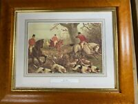 "English Fox Hunting Print - ""Gone Away"" - E.B Herberte (1870-1890) - Framed"