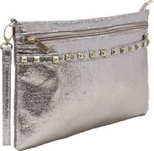 Femina Metallic Crossbody Bag with Studded Accents (champagne) with a NutriChart