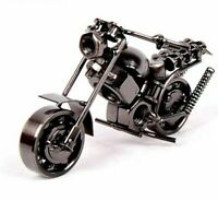 Motorcycle Model Retro Motor Figurine Metal Decoration Handmade Iron Motorbike