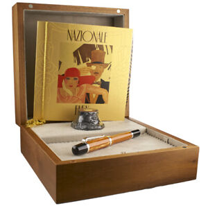 MONTEGRAPPA NAZIONALE CARAMEL CELLULOID LIMITED EDITION OF 200 PEN NEW BOXED !