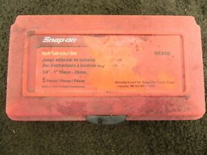 Snap-On BEX5B Bolt Extractor Set Used