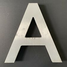 "Letter A Vintage Industrial Salvage Sign Cast Aluminum Metal 12"" Outdoor"