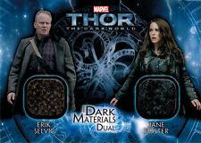 Thor Dark World DMD-2 Costume Memorabilia Card Erik Selvig & Jane Foster