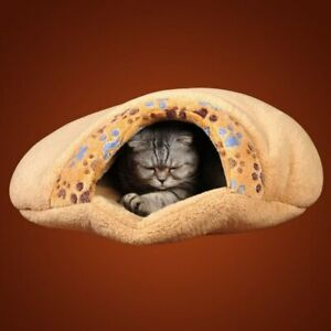 Washable Cat House Warm Cotton Igloo Soft Plush Winter Bed Sleeping Kitten Cave