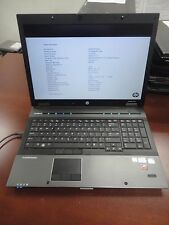 "HP EliteBook 8740w 17"" LED Webcam 2.40Ghz i5 8GB 250GB LINUX Gaming Laptop"