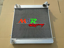 for Jaguar XKE E Type Series 1 1965 1966 1967 Manual aluminum radiator 3 row
