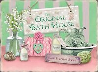 Vintage style shabby metal wall plaques bathroom sign pretty picture wall door