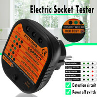Electrical Socket Tester Neutral Live Earth Wire RCD Switch LED Detector  UK*.