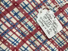 Antique fabric/feed sack cloth/quilt fabric Vibrant plaid colors