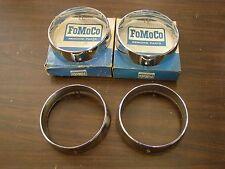 NOS OEM Ford 1967 Mercury Headlight Door Bezels Headlamp Monterey Montclair +