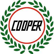 Classic British Motoring Mini Cooper with Laurel Wreath Wheel Centre Stickers x5