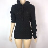 Divided by H&M Women Sweater Chunky Knit Cowl Neck Black Size Small