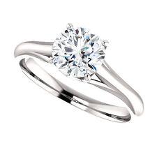 .75 Ct Forever Brilliant Moissanite Solitaire Engagement Ring 14k White Gold