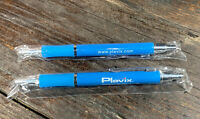 NEW Drug REP PLAVIX Metal Ball Point Pen Button Click RARE Lot Of 2 Discontiued