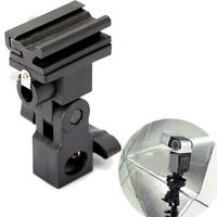 Hot Shoe Umbrella Flash Mount Swivel Bracket Light Stand Holder for Canon/Nikon