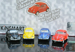 VOLKSWAGEN VW BEETLE 1:64 Scale Pull Back & Go Diecast Model Toy Car Miniatures