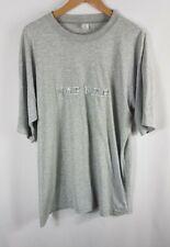 Vintage Naff Naff Mens T Shirt XXK Size 2XL Grey Crew Neck Short Sleeved 90s