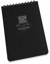 "Rite In The Rain 6""x 4"" Waterproof Pocket Notepad 50 Sheets Tactical BLACK No746"