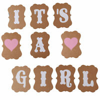 ITS A GIRL HEART BUNTING PARTY BANNER BABY SHOWER PARTIES DECORATION GARLAND UK