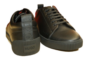 HUGO BOSS Lowtop Sneakers ZERO TENN Schwarz Leder Turnschuhe Sportschuhe Schuhe