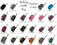 Heavy Duty Travel Rolling Duffle Bag Travelling Large Wheels Heavy-duty Zipper