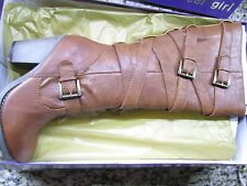 NEW STEVE MADDEN MADDEN GIRL KIICKBAK COGNAC TALL BOOTS WOMENS 10 KNEE HIGH TAN