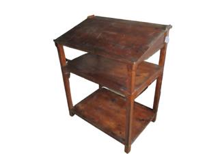 Leggio - scrittoio - bureau in cirmolo - castano primi 900 - etagere - scaffale