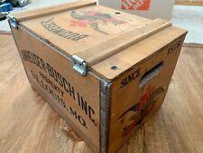 New listing Anheuser Busch Budweiser Antique Wooden Beer Crate - Original!