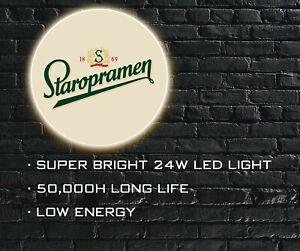 Staropramen Beer LED ILLUMINATED SIGN, WALL MOUNTED LIGHT BOX for Bar, Man Cave