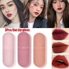 3Pcs Mini Matte Lipstick Waterproof Lip Gloss Long Lasting Moisturizer Lip Tint