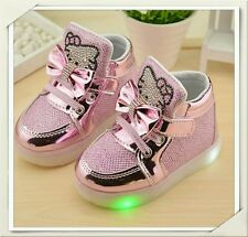 ❤ Hello Kitty Sneaker 🌟 LED 🌟 Gr.24🌟 Rosa 🌟 Neu ❤