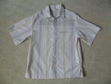 RIP CURL CHECK PRINT SHORT SLEEVE COLLARED POLYCOTTON SHIRT MID FIT AGE 14 NWOT