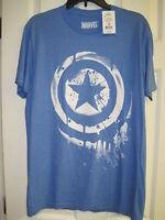 NWT Marvel Captain America T Shirt Size M Blue