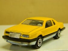 Vintage Majorette # 217 Ford Thunderbird 1/67 sc. Yellow Mint Loose France *