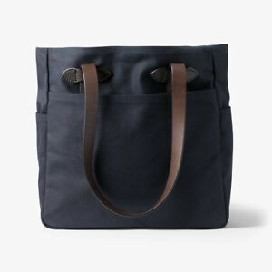 NWT FILSON Rugged Twill Tote Fabric Zipper Tablet Travel Navy Blue 11070260