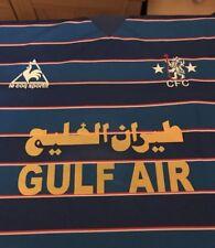 Chelsea Gulf Air Hierro en patrocinador para Retro Chelsea shirts