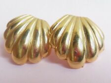 Vintage 1960's gold tone shell design high heel shoe clips accessory decoration