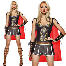 Women's Roman Gladiator Costume Spartan Warrior Xena Fancy Dress Outfit